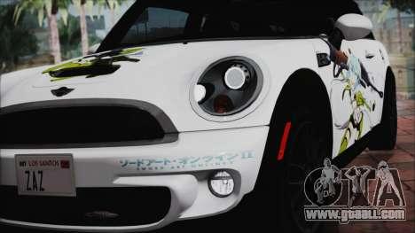 Mini Cooper Clubman 2011 Itasha for GTA San Andreas inner view
