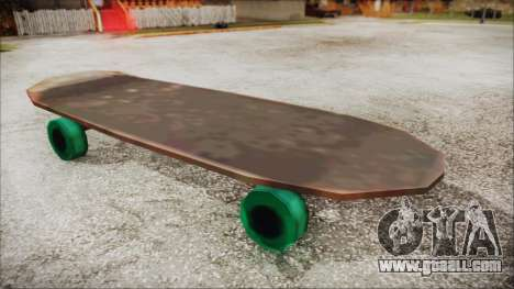 Giant Skateboard for GTA San Andreas back left view