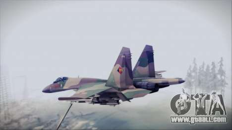 Sukhoi SU-35S East German Air Force for GTA San Andreas left view
