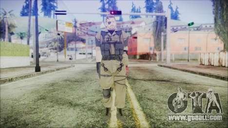 MGSV Phantom Pain Snake Normal Olive Drab for GTA San Andreas second screenshot
