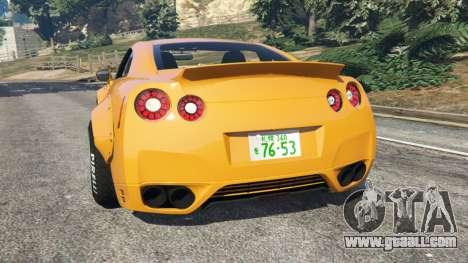 GTA 5 Nissan GT-R (R35) [LibertyWalk] rear left side view