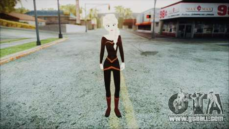 Elsa Black Outfit for GTA San Andreas second screenshot