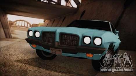 Pontiac Lemans Hardtop Coupe 1971 for GTA San Andreas back left view