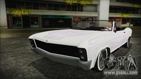 GTA 5 Albany Buccaneer Custom for GTA San Andreas back view