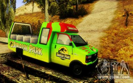Jurassic Park Tour Bus for GTA San Andreas back left view