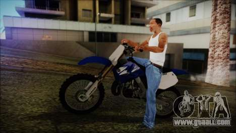 Yamaha YZ250 for GTA San Andreas back view