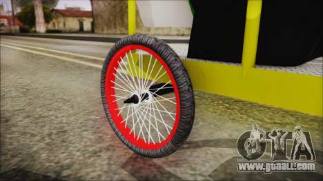 Bicitaxi Colombiano for GTA San Andreas right view