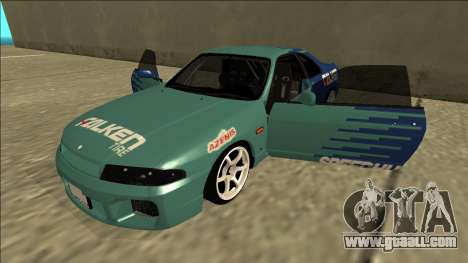 Nissan Skyline R33 Drift Falken for GTA San Andreas side view