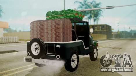 Jeep Willys Cafetero for GTA San Andreas left view