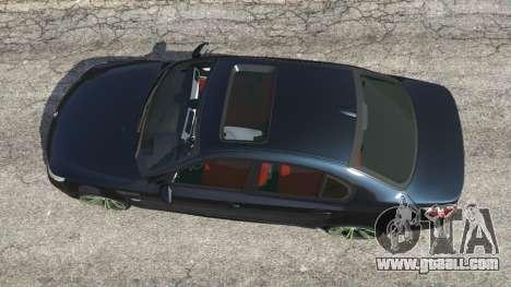 GTA 5 BMW M5 (E60) v1.1 back view