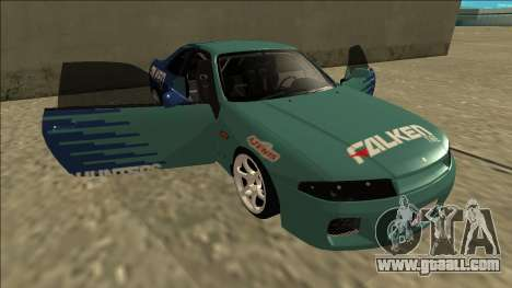 Nissan Skyline R33 Drift Falken for GTA San Andreas bottom view