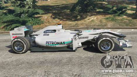GTA 5 Mercedes-Benz MGP W01 [Michael Schumacher] v1.1 left side view