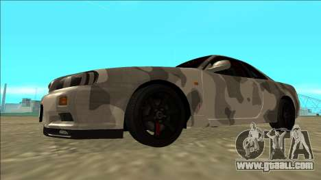 Nissan Skyline R34 Army Drift for GTA San Andreas left view
