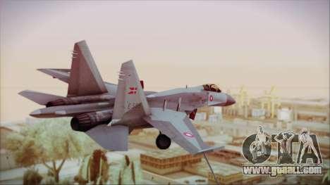 Sukhoi SU-27 Royal Danish Air Force for GTA San Andreas left view
