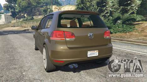 GTA 5 Volkswagen Golf Mk6 rear left side view
