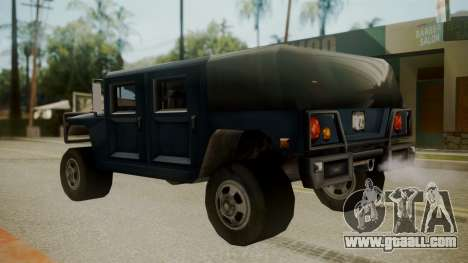 Patriot III for GTA San Andreas back left view
