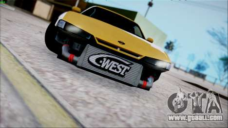 Nissan Silvia s14 by TheFlem for GTA San Andreas back left view