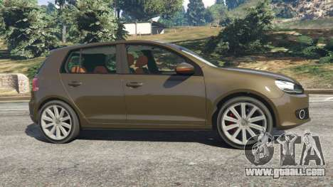 GTA 5 Volkswagen Golf Mk6 left side view