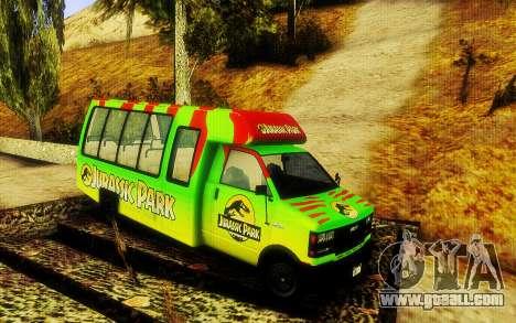 Jurassic Park Tour Bus for GTA San Andreas
