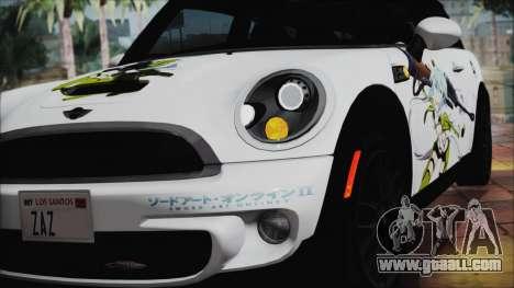 Mini Cooper Clubman 2011 Itasha for GTA San Andreas back view
