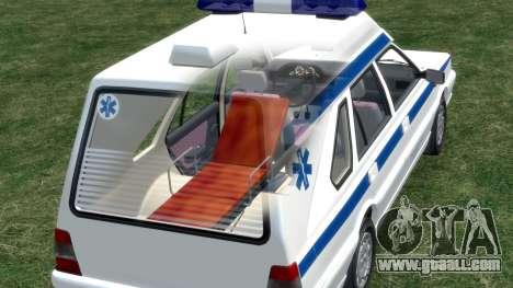 Daewoo-FSO Polonez Cargo Ambulance 1999 for GTA 4 wheels