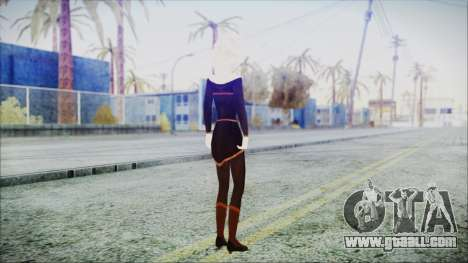 Elsa Black Outfit for GTA San Andreas third screenshot