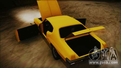 Pontiac Lemans Hardtop Coupe 1971 IVF АПП for GTA San Andreas inner view