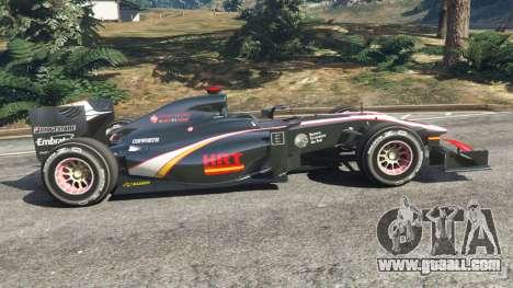 GTA 5 Hispania F110 (HRT F110) v1.1 left side view