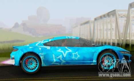Dinka Jester (GTA V) Blue Star Edition for GTA San Andreas left view