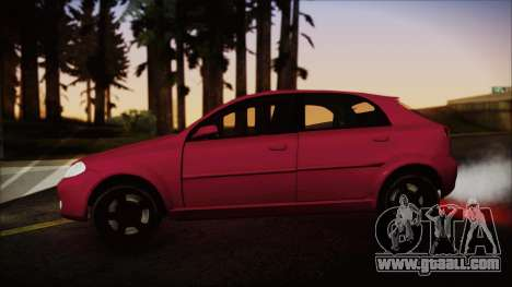 Chevrolet Aveo for GTA San Andreas back left view