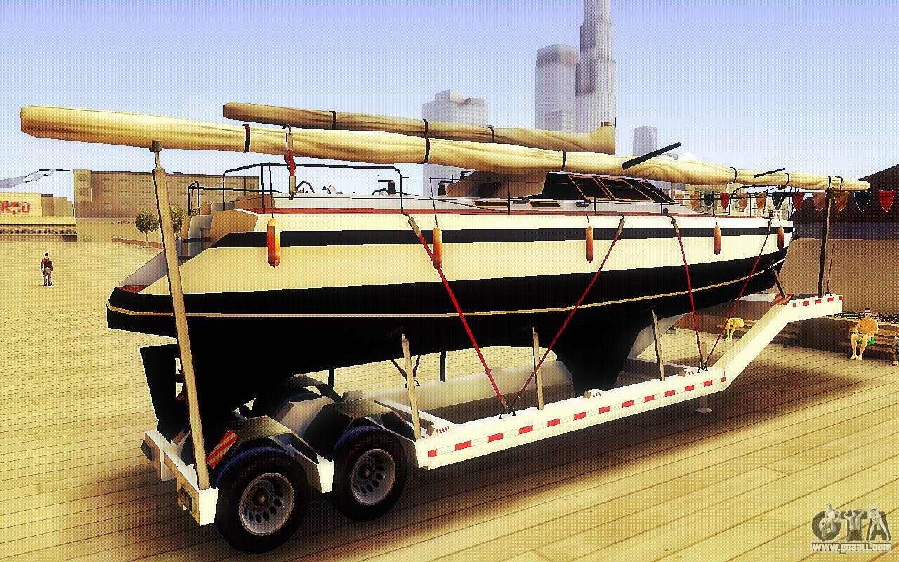 gta v big boat trailer for gta san andreas. Black Bedroom Furniture Sets. Home Design Ideas