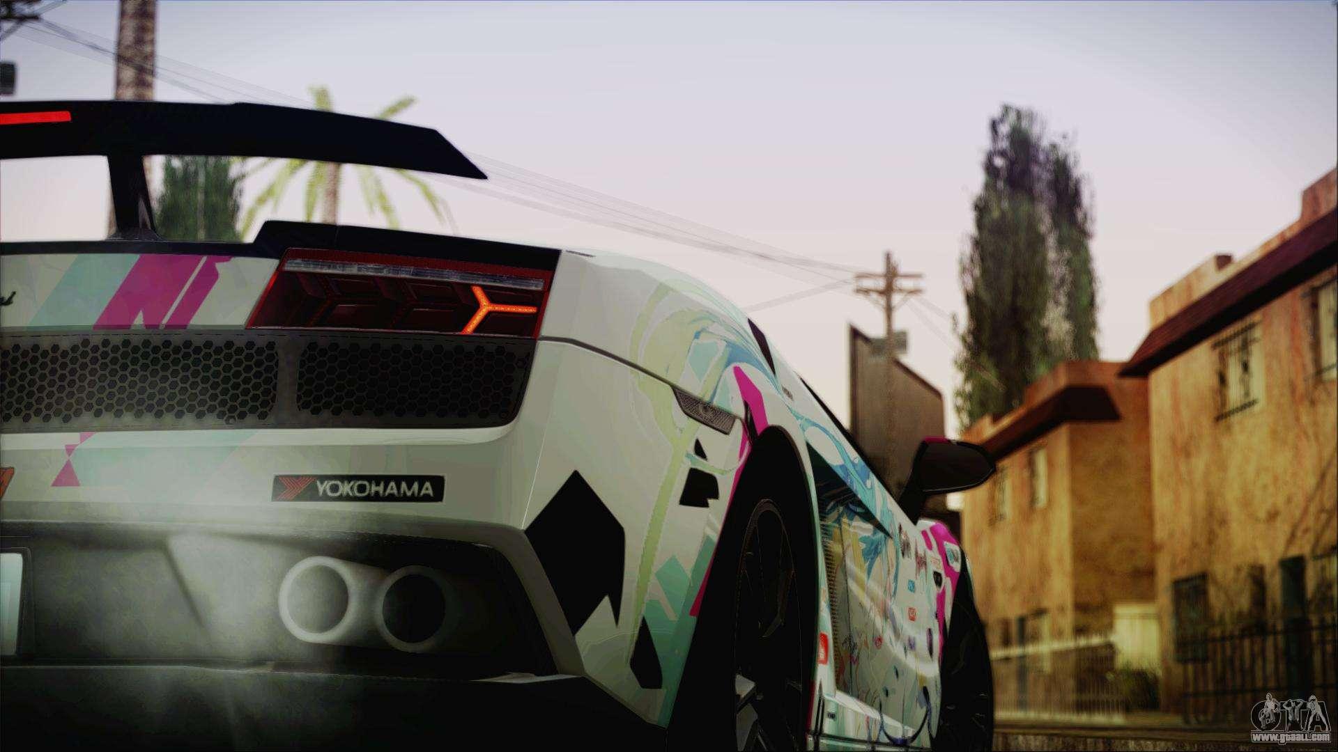 Lamborghini Gallardo Lp570 4 2015 Miku Racing 4k For Gta
