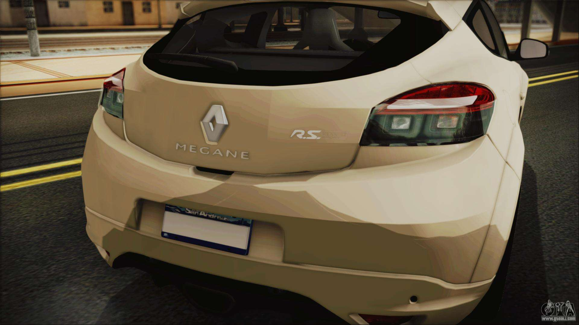 High Quality Renault Megane RS For GTA San Andreas Back View
