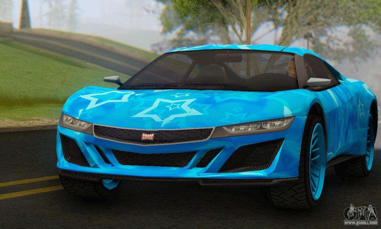 6 Passenger Vehicles >> Dinka Jester (GTA V) Blue Star Edition for GTA San Andreas