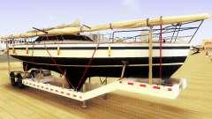 GTA V Big Boat Trailer