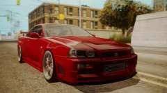 Nissan Skyline R34 FnF 4 v1.1 for GTA San Andreas