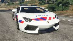 Lamborghini Aventador LP700-4 Dutch Police v5.5 for GTA 5