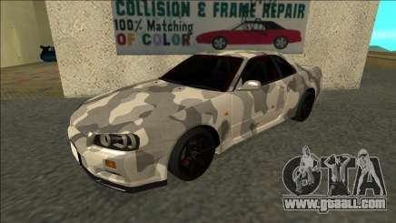 Nissan Skyline R34 Army Drift for GTA San Andreas
