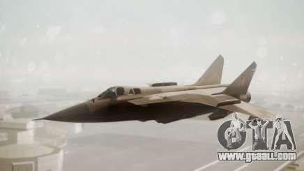 Mikoyan MiG-31 Yuktobanian Air Force for GTA San Andreas