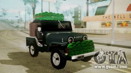 Jeep Willys Cafetero for GTA San Andreas