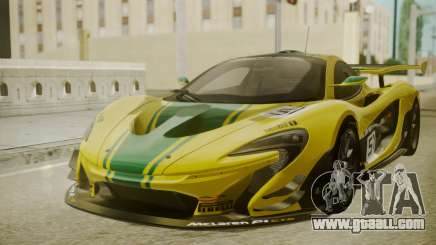 McLaren P1 GTR 2015 Yellow-Green Livery for GTA San Andreas