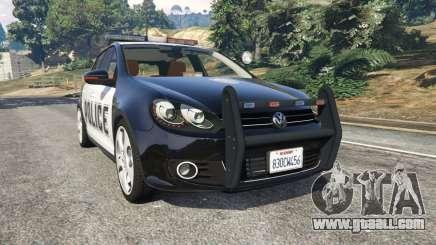Volkswagen Golf Mk6 Police for GTA 5