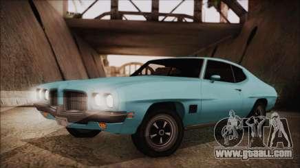 Pontiac Lemans Hardtop Coupe 1971 for GTA San Andreas