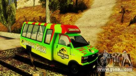 Jurassic Park Tour Bus for GTA San Andreas