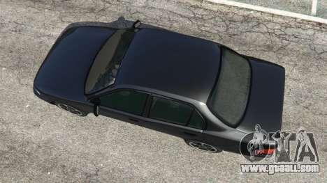 GTA 5 Toyota Corolla 1.6 XEI [black edition] v1.02 back view