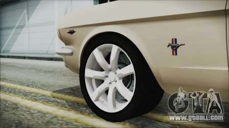 Ford Mustang Fastback 1966 Chrome Edition for GTA San Andreas back left view