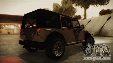 GTA 5 Canis Crusader for GTA San Andreas left view