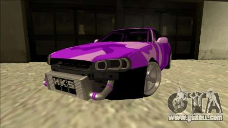 Nissan Skyline R34 Drift for GTA San Andreas back left view