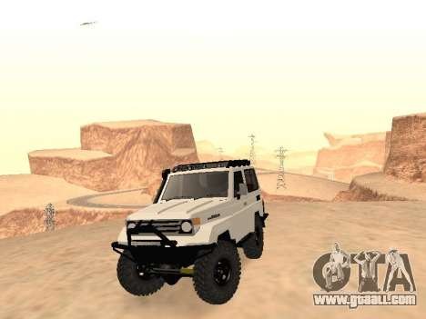 Toyota Machito Off-Road (IVF) 2009 for GTA San Andreas back view