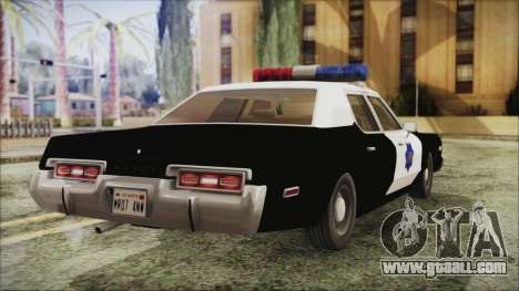 Dodge Monaco 1974 SFPD for GTA San Andreas left view